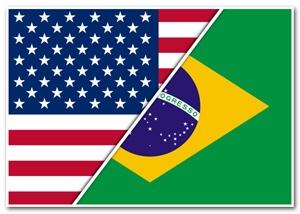 US-Brazil Flags