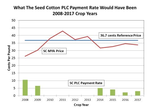 Calculating PLC Payments for the Seed Cotton Program