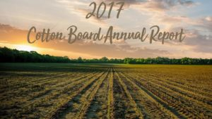 Cotton Board 2017 Annual Report Now Available